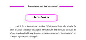 Sources du droit fiscal international