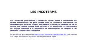 Les differents types d'incoterms