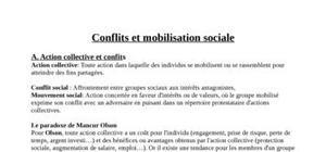 Conflits et mobilisations sociales