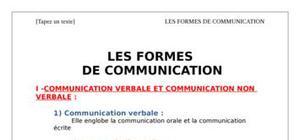 Les formes de communications