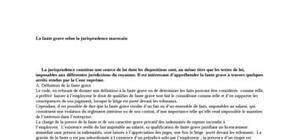 La faute grave selon la jurisprudence marocaine