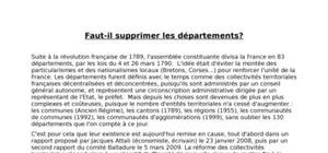 Suppression des départements