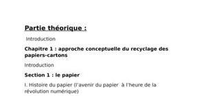 Le role du recyclage dans l'economie
