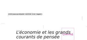 L'economie et les grands courant de pensée