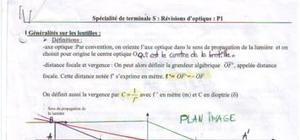 Spécialité optique sujet cours 1