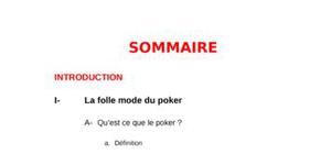 Le poker ou comment un phénomène de mode devient facteur de sociabilité de l'individu ?