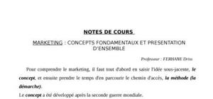 Le marketing: concepts fondamentaux
