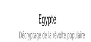 Révolte en egypte - retraie en espagne