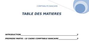 Comptabilité bancaire ( réforme + états de synthése)