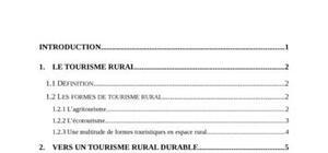 Le tourisme rural durable