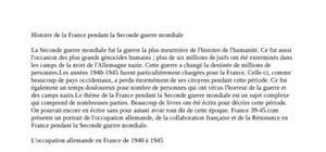 La france pendant la 2nd guerre mondiale