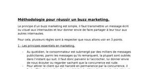 Methodologie pour reussir un buzz marketing