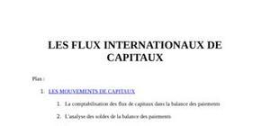 Les flux internationaux de capitaux