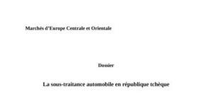 La sous-traitance automobile en république tchèque