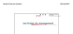 Les ecoles du management