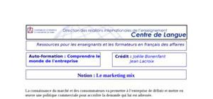 Cours : le marketing mix