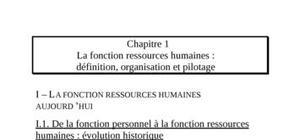 la fonction de ressource humaine