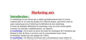 La stratégie de marketing mix