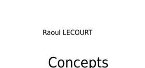 Concepts de la programation c++