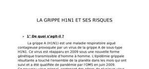La grippe h1n1 et ses risques