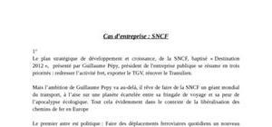 Sncf, baptisé « destination 2012 »,