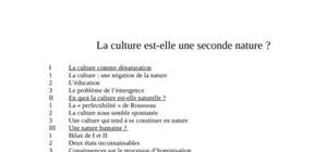 La culture humaine seconde nature?