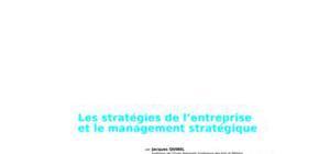 Stratégie des entreprises : management stratégique