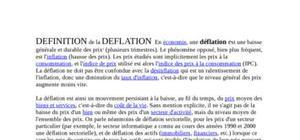 Deflation et contenu