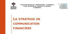 La strategie de communication financiere