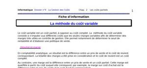 Methode des couts variables