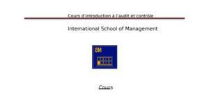 Introduction a l'audit et contrÔle