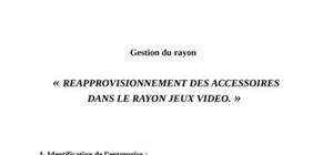 Gestion du rayon  ( easy cash)