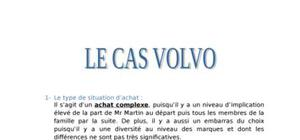 le cas volvo marketing