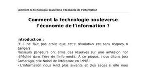 Comment la technologie bouleverse l'économie de l'information ?
