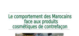 les marocains et les produits cosmétiques de contre façon