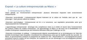 Entrepreneuriat au maroc