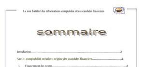 La non fiabilité des informations comptables et les scandales financiers
