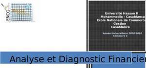 Analyse diagnostic financière : cas sothema