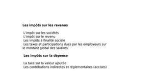 Plan fiscalité française