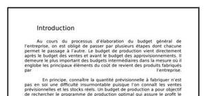 Le contrôle de gestion la budgétisation
