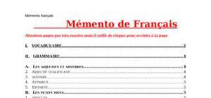 mémento de français