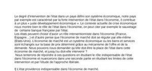 le rôle de l'état dans l'économie et les limites de cette intervention et par l'étude de l'approche libérale