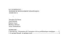 Le cas  en management stratégique renaut