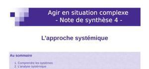 Note s approche systémique
