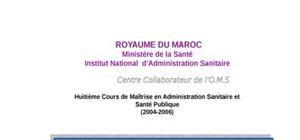 Projet d'amelioration de la gestion des ressources humaines au centre hospitalier provincial de tetouan