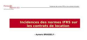 Incidences des normes ifrs sur les contrats de location