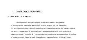 Le budget pour chaque p du marketing mix