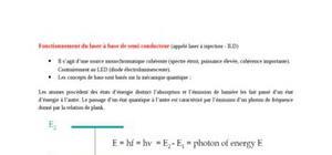 Fonctionnement du laser à base de semi conducteur
