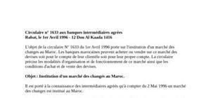 Marché des changes marocains