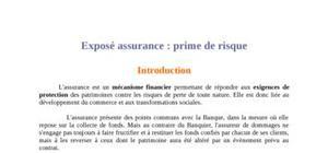 Mode de calcul de la prime d'assurance